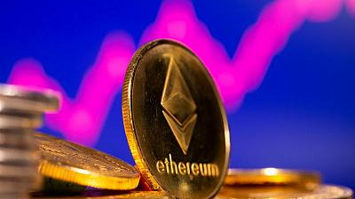 Digital currency Ether hits record high