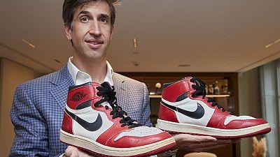 Zapatillas de Michael Jordan salen a la venta en Sotheby's
