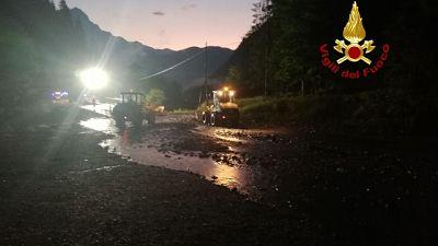 Due case evacuate per rischio frana