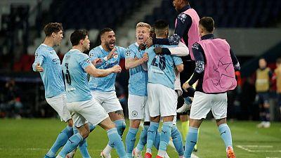 Manchester City se recupera y vence 2-1 al PSG de visitante en ida de la semifinal de Champions