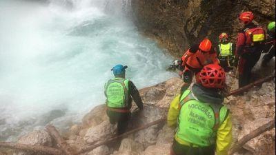 Riaffiorato da pozza alla base della cascata di Fanes