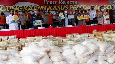 Indonesian police seize 2.5-tonne haul of crystal meth