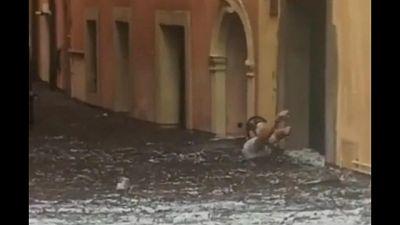 Scampato disastro a Verona, nubifragio divelto porte e finestre