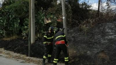Nel Casertano intervento Vigili del fuoco in area di 150 mq