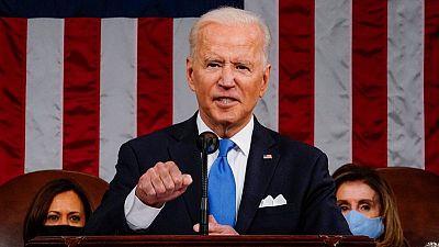 Biden aboga por la unidad y advierte sobre la amenaza china en discurso ante el Congreso