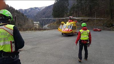 Scivolato in un dirupo in Valtellina durante uscita di servizio
