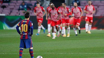 Barcelona cae ante Granada y desperdicia oportunidad de trepar a la cima de la Liga