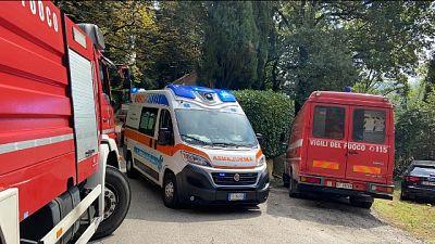 Sui colli, l'intervento della Polizia e dei vigili del fuoco