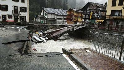 Dopo crollo ponte Gaby e frane su strade regionali