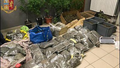 .Polizia smantella banda, sequestrati 63 chili di stupefacente