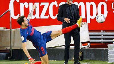 DT de Atlético insiste en ir paso a paso antes de cierre de Liga más peleado en años
