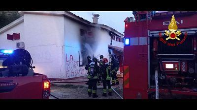 A fuoco villetta di un 50enne, in casa non c'era nessuno