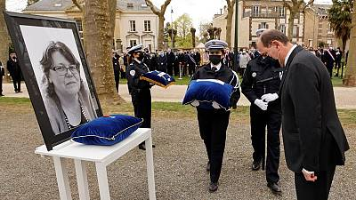 French PM pays tribute to slain police worker