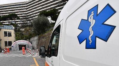 574 gli ospedalizzati,salgono a 34 i malati in terapia intensiva