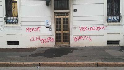 Vandalismo a Milano dopo quello a Bologna e Torino