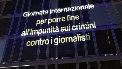 Per Giornata contro 'impunità per crimini contro giornalisti