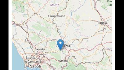 Magnitudo 2.1, avvertita anche a Benevento.Epicentro a Ceppaloni