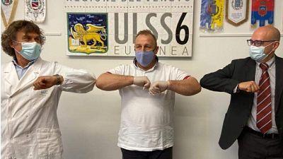 Graziano Ruzza visita medici e personale dell'ospedale