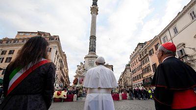 Per il tradizionale omaggio alla Madonna
