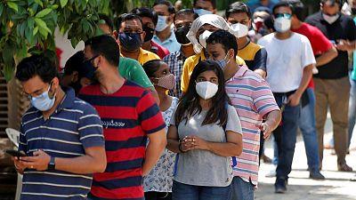 الهند تسجل 392488 إصابة جديدة بفيروس كورونا خلال الأربع والعشرين ساعة الماضية