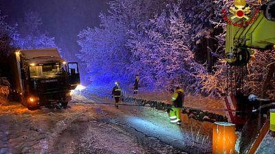 Interventi a Bologna e in collina, nessun ferito