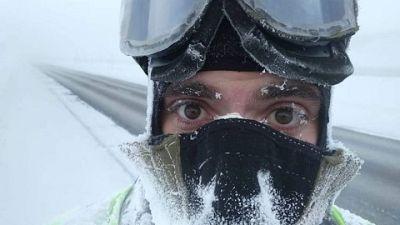 Gelo provoca forature delle camere d'aria