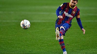 Doblete de Messi sella reñida victoria del Barça ante Sevilla