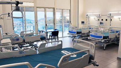 Leggero calo dei ricoveri (-3), + 250 i pazienti guariti