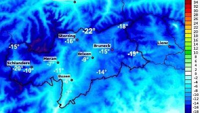 La neve contribuisce all'abbasamento delle temperature