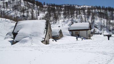 Soccorso alpino impegnato in ricerche