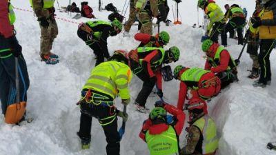 Strumenti elettronici e sonde per esplorare strato neve 6 metri