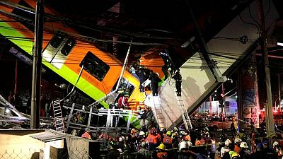 Mexico City rail overpass collapses, killing 13 and injuring 70