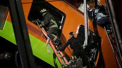 Al menos 20 muertos y decenas de heridos por un accidente de metro en Ciudad de México