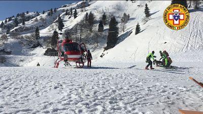 A Piancavallo. Bonificata zona con ausilio elicottero