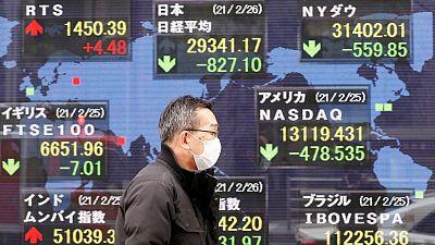 Asia shares flat, holidays help blunt U.S. tech retreat