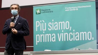 Governatore Lombardia, abbiamo somministrato 1,6 mln di dosi