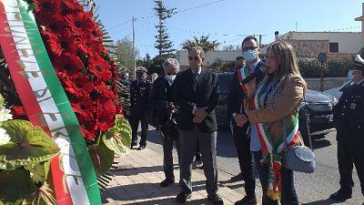 Ex Pm a commemorazione sul luogo dove avvenne attentato