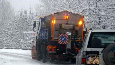 Crollo delle temperature e fitta nevicata a Livigno