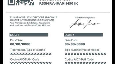 Vaccini: Lazio, consultati già oltre 100mila certificati