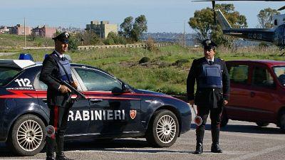Inchiesta Dda Catania,arresti Cc per guerra tra cosche in strada