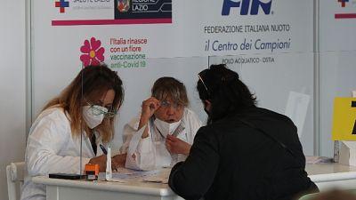 All'inaugurazione Zingaretti, Barelli, Figliuolo e Curcio