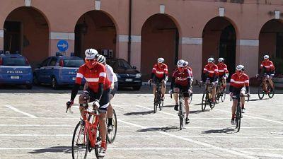 Partenza da Questura Venezia, pedalata oggi e domani