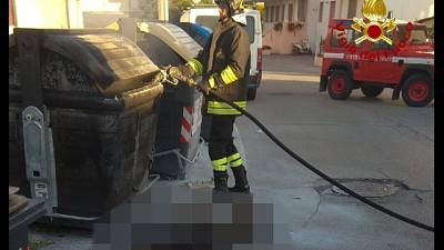 Intervento dei vigili del fuoco a Chioggia