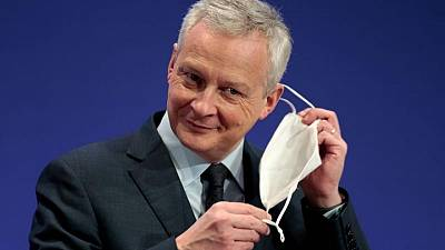 Finance Minister Le Maire sees French economy back to pre-COVID levels by first half 2022