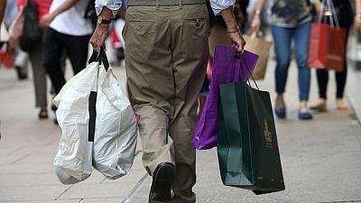 UK shopper numbers down 4.1% last week, dented by rain: Springboard