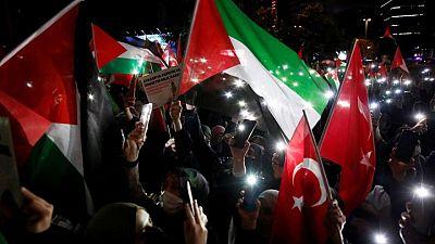احتجاجات في تركيا ضد إسرائيل