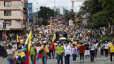 Protestas en Colombia entran en su tercera semana, líderes advierten que continuarán