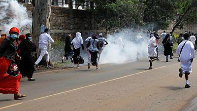 Kenyan police disperse protesters demonstrating against Israeli attacks on Gaza