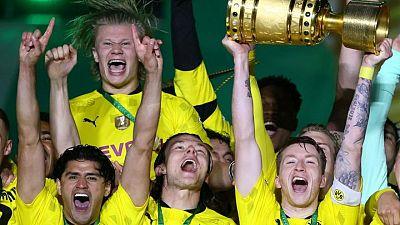 Borussia Dortmund golea al RB Leipzig y gana la Copa de Alemania con dobletes de Sancho y Haaland
