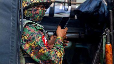 Myanmar army battles anti-coup rebels in northwest town